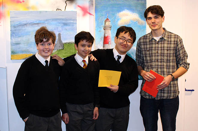 Downside Pupils at Art Exhibition