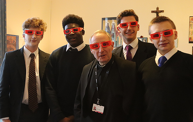 Downside Catholic School - Pupils with 3D Glasses