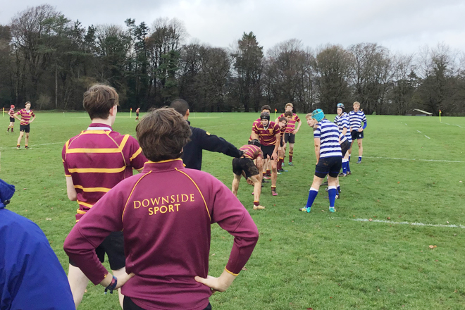 Pupils from Downside School Play Rugby