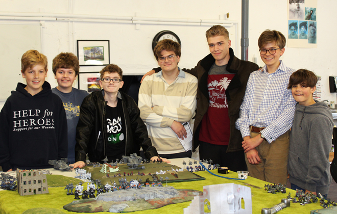 Pupils and Warhammer Figures