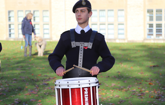 Downside Catholic School Remembrance Service Drummer