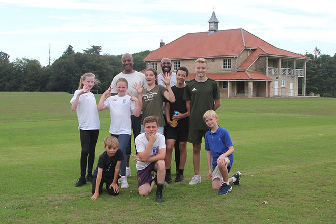 Pupils at Fisher Youth Club Summer Camp