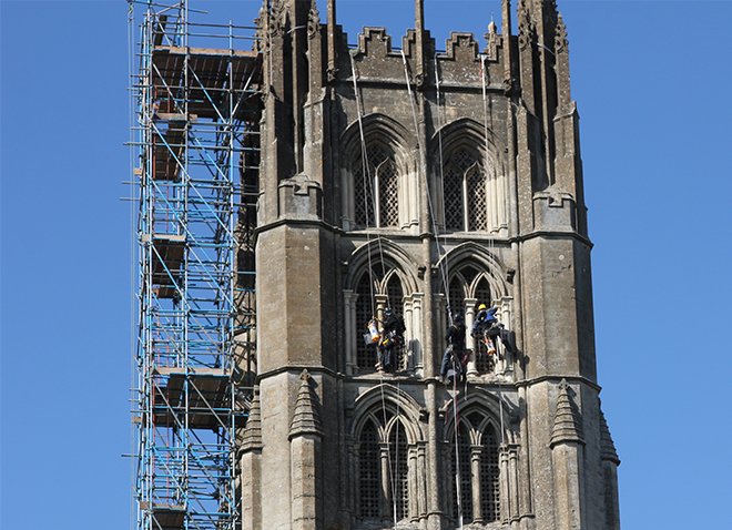 Abseiling Off Abbey Tower