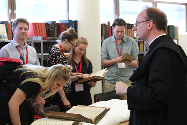 Students Visit Downside Abbey Monastic Library