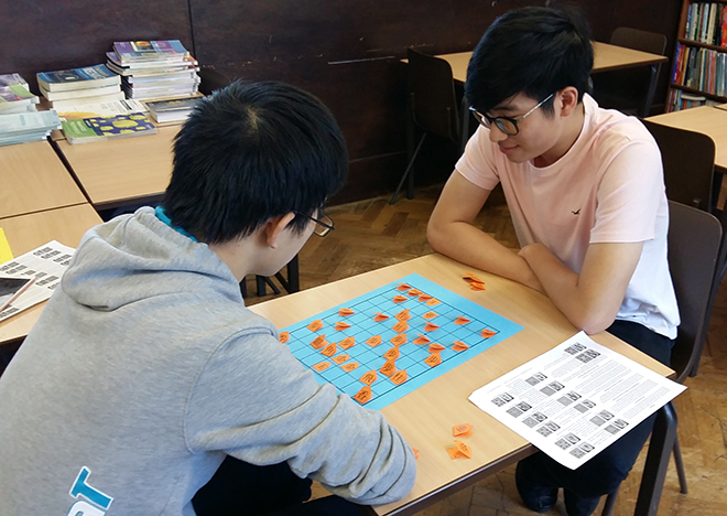 Downside Catholic School Pupils Playing Boardgames