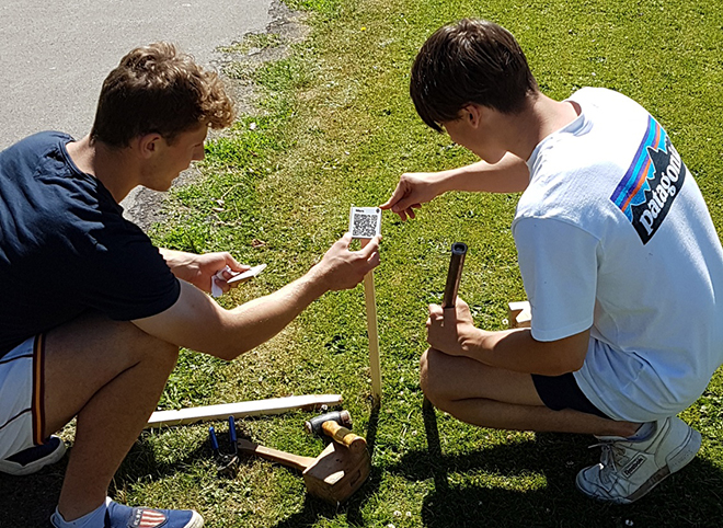 Downside Catholic School Pupils Building Games