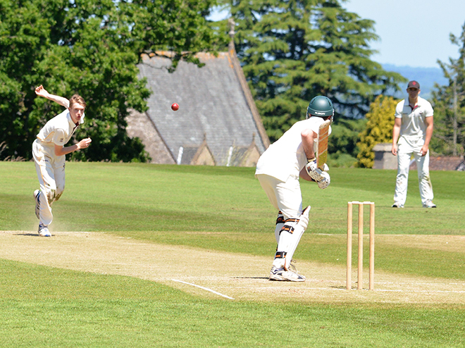 Downside Pupils Playing Cricket