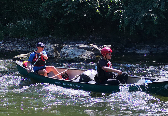 Downside School Pupils Canoeing