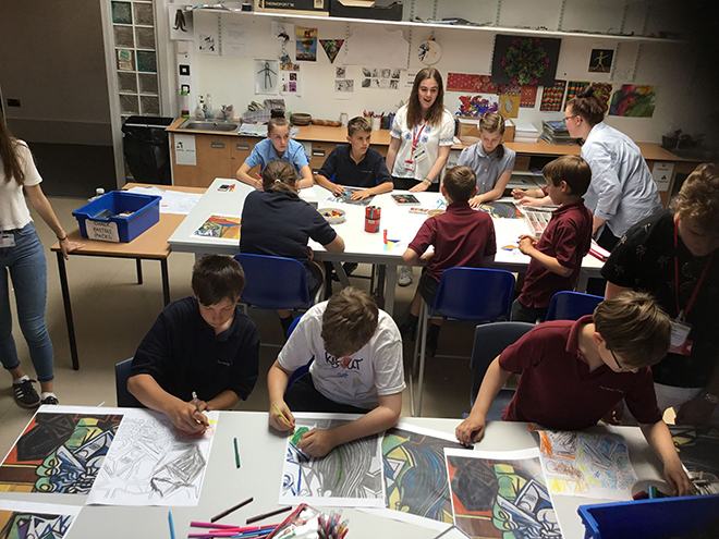 Downside Catholic School - Pupils Drawing in Art Class