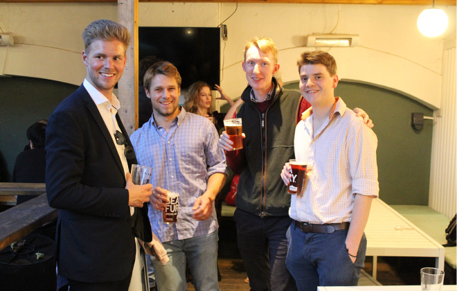 4 Old Gregorians at the Under 35 Drinks Event