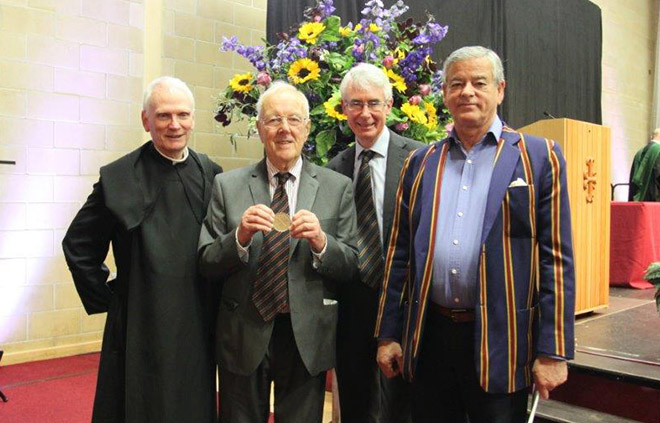 Chris Dick with old Gregorian medal