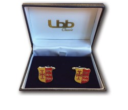 Downside Red and Gold Cufflinks