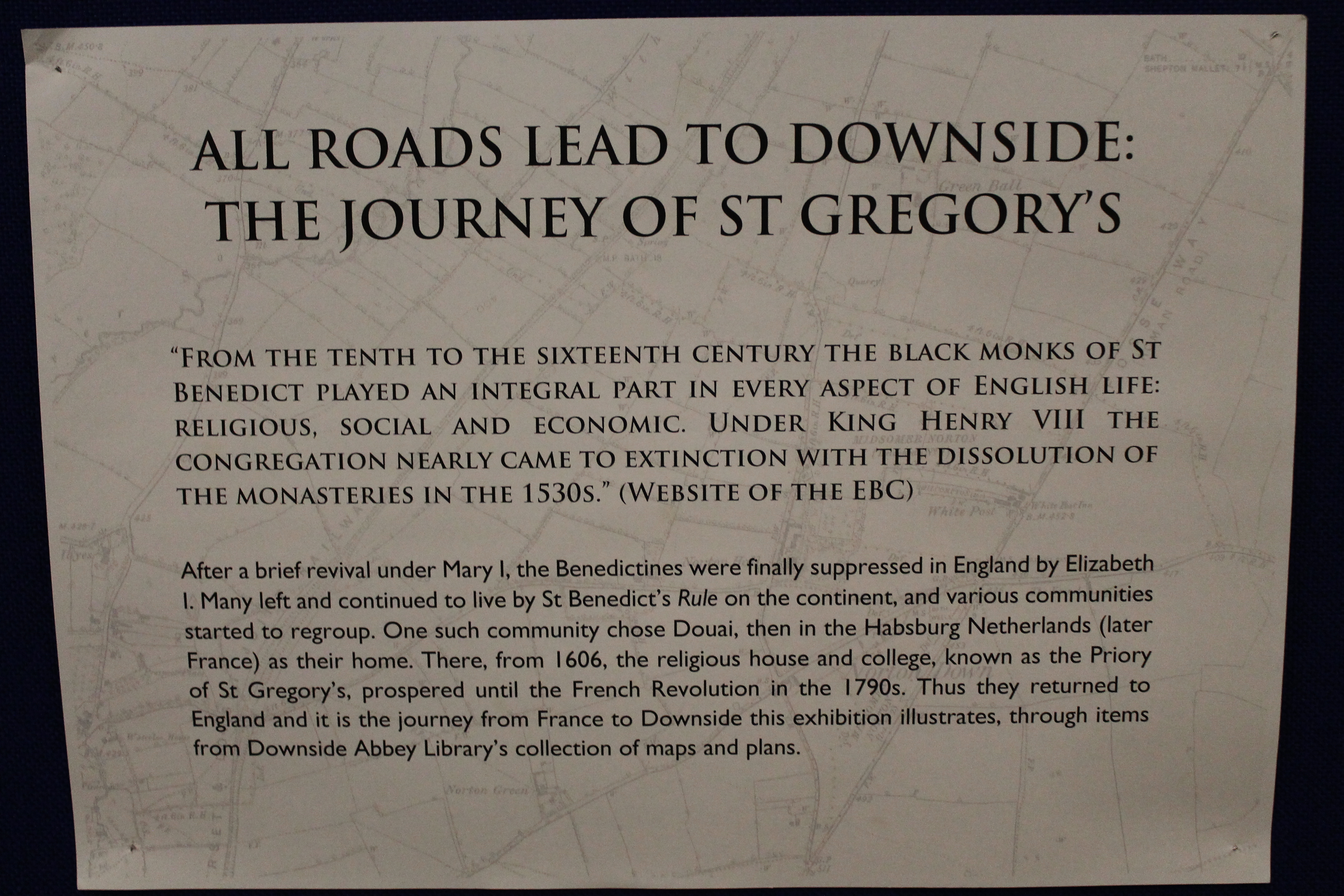 Roads lead to St Gregory