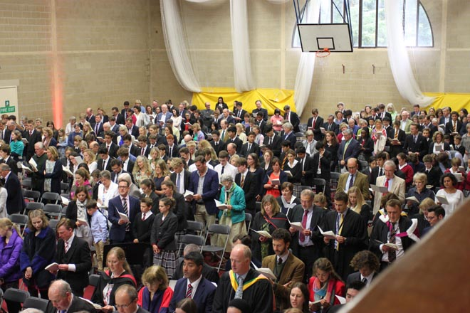 Hall of people at Prize Day 2018