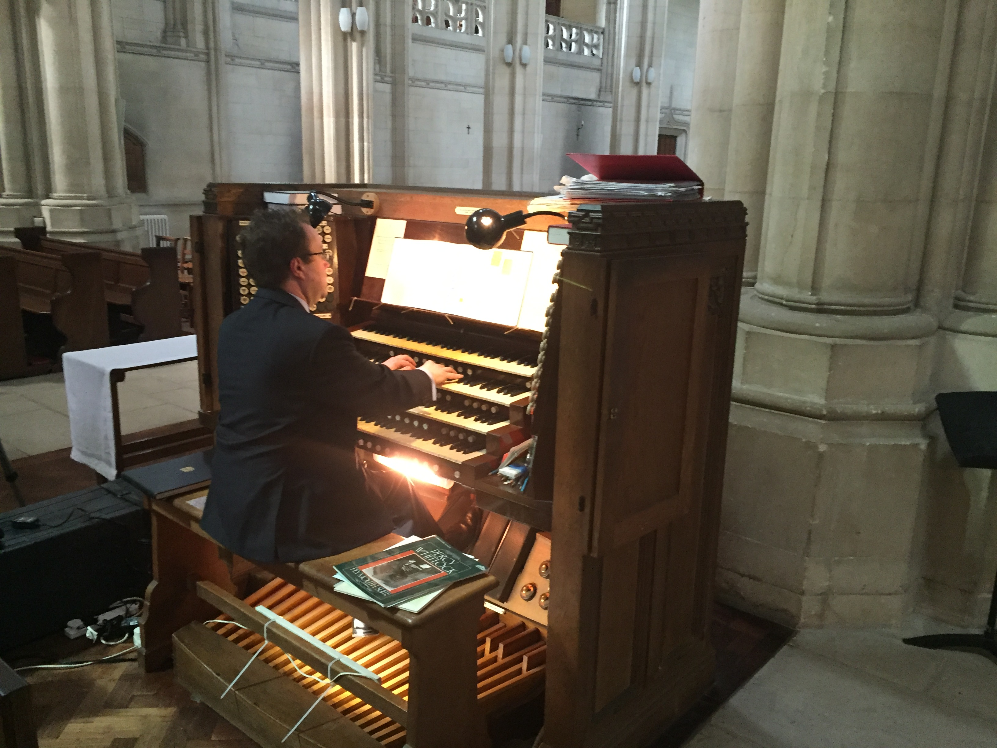 Organists Visit Downside