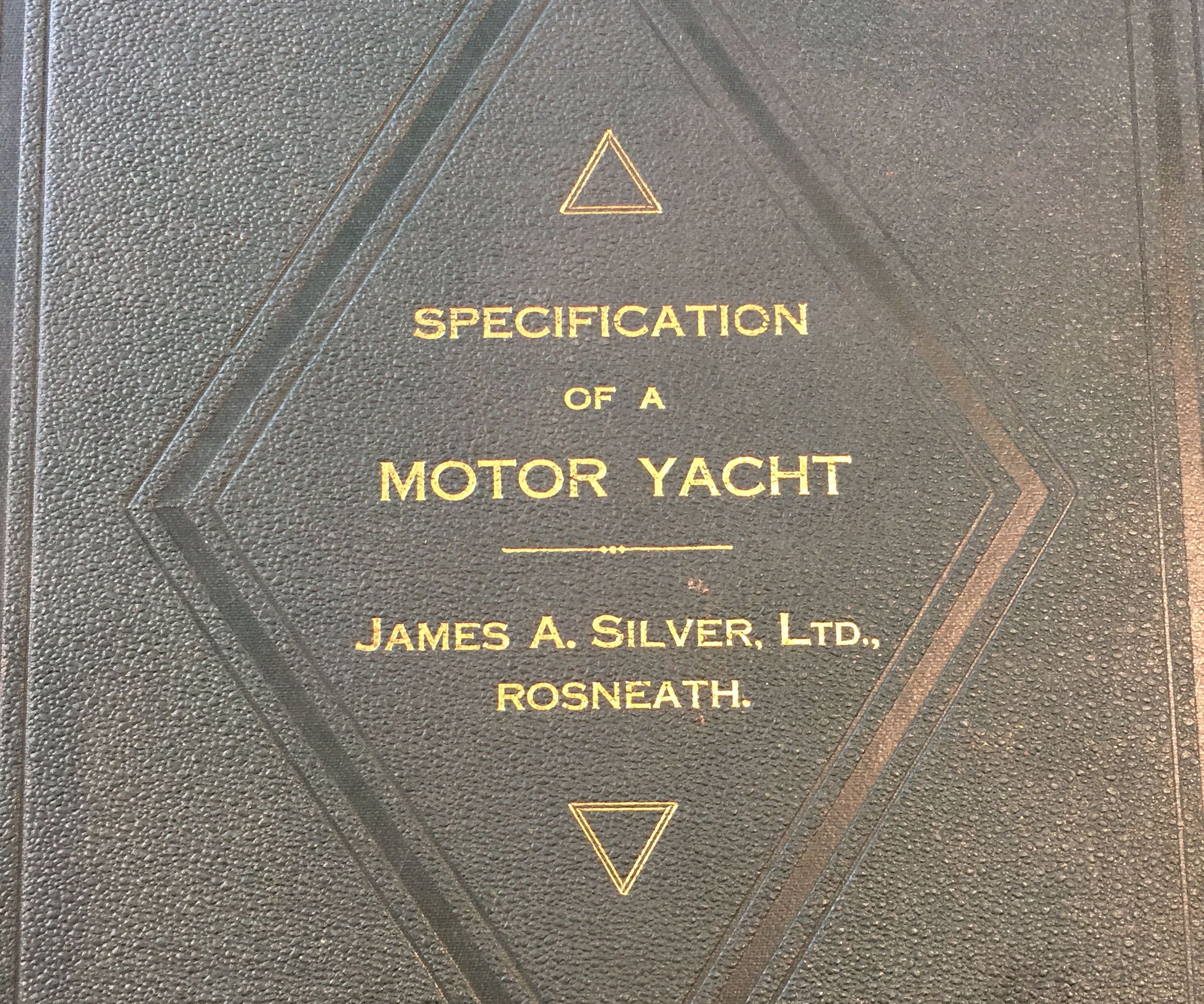 Downside Catholic School Archive - Specification of a Motor Yacht
