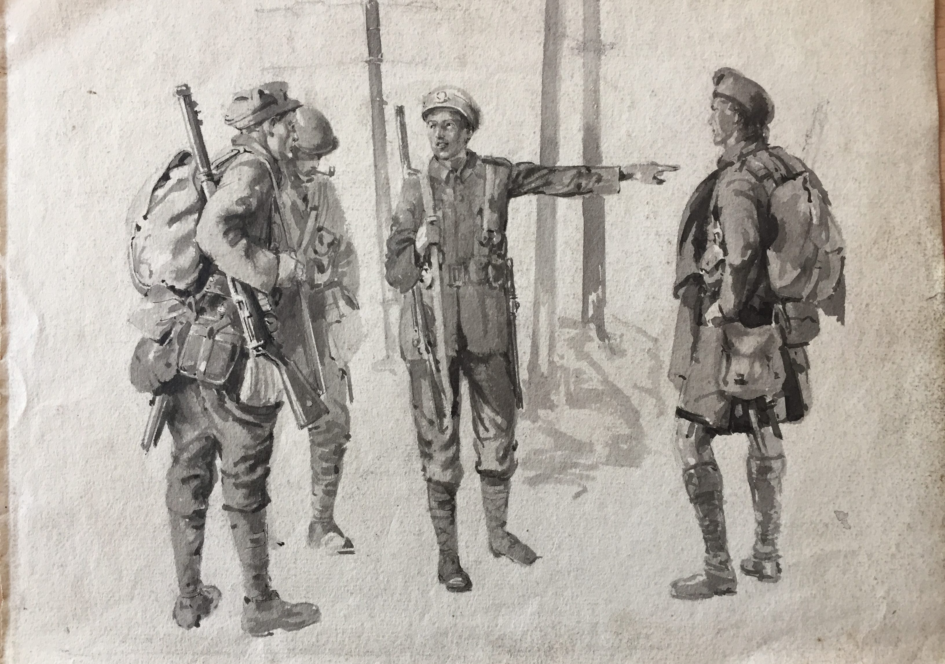 Excerpt from Great War Watercolours Collection