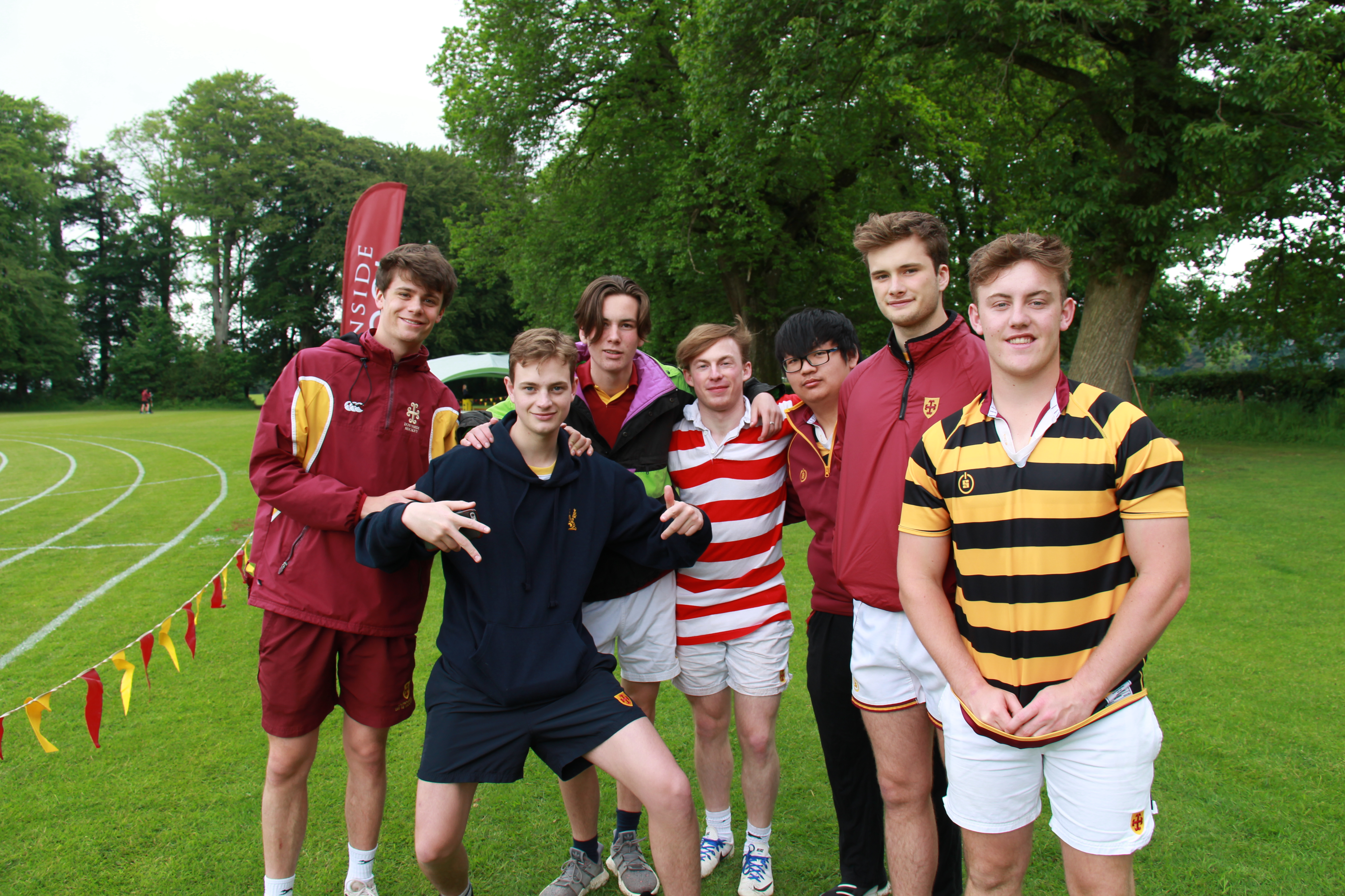 Group of boys at sports day 2018