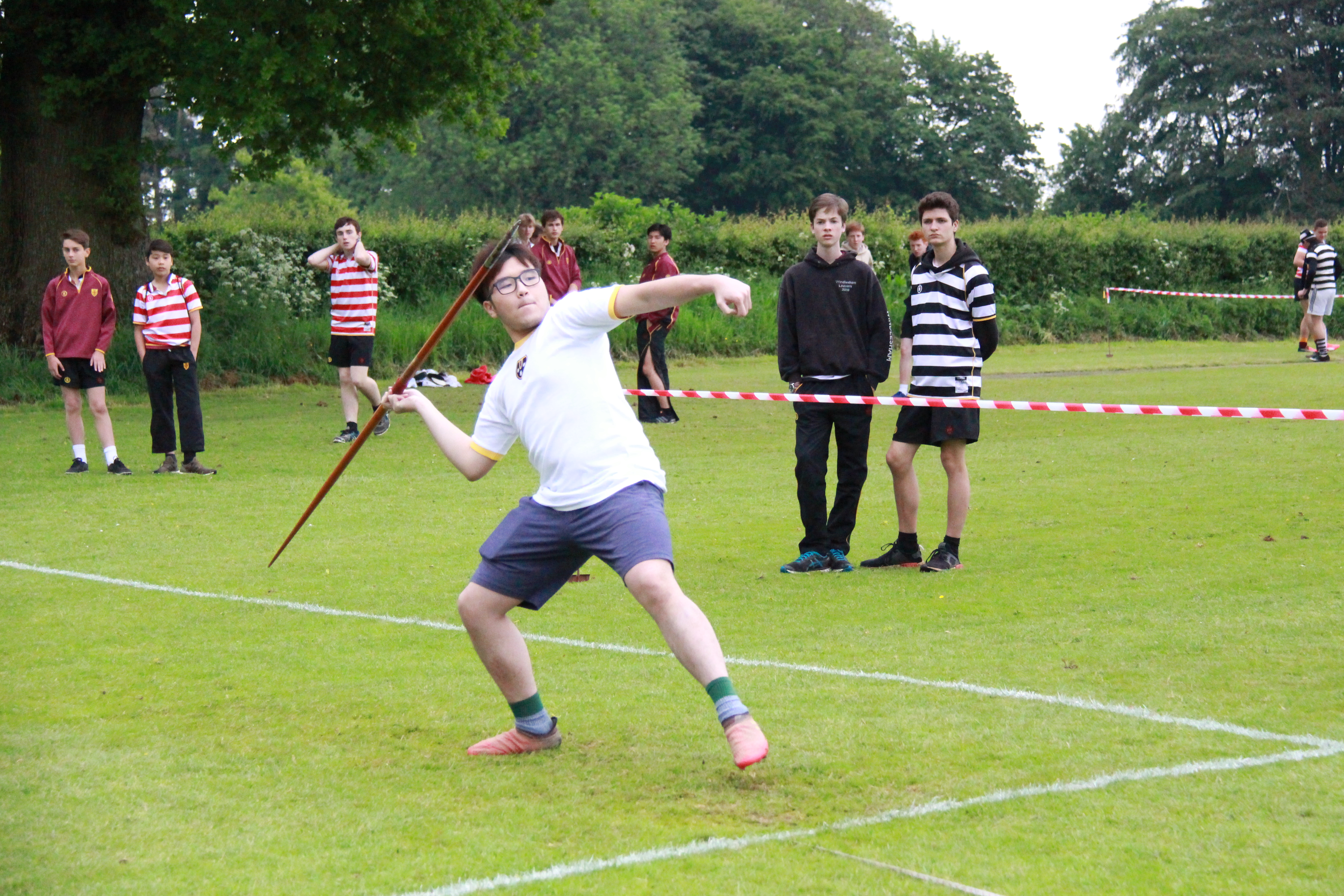 Javelin at sports day 2018