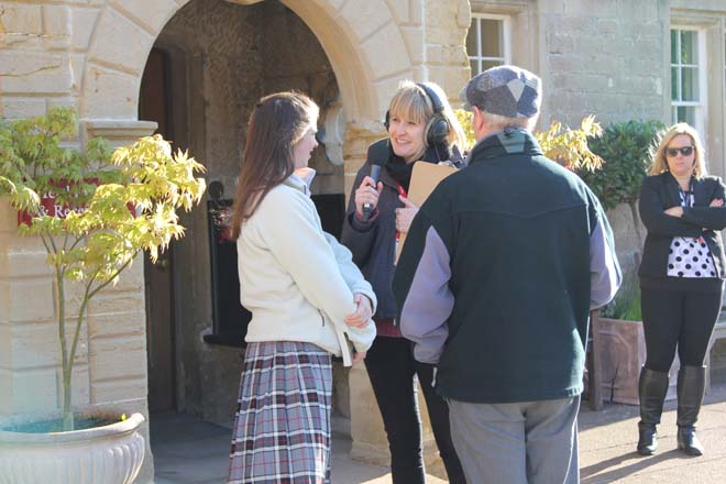 BBC Radio Somerset interviewing people at Downside