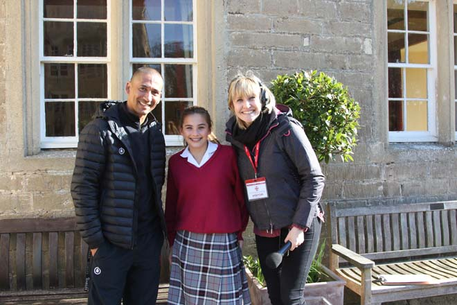 BBC Radio Somerset presenter and students