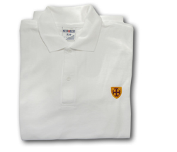 Downside School White Polo