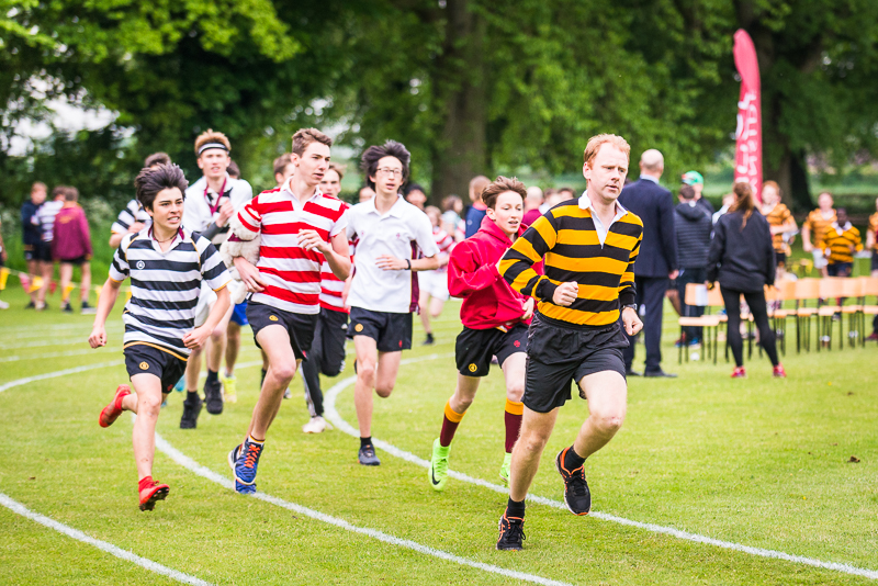 Boys running at sports day 2018