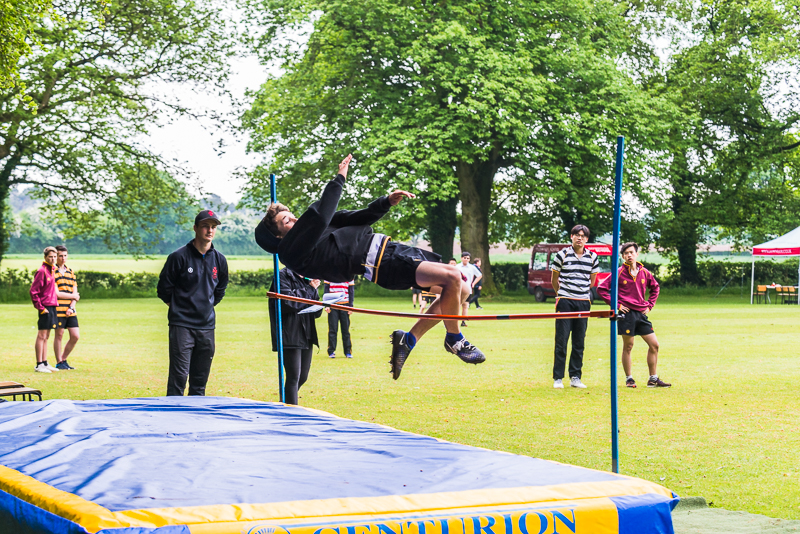 Pole vault at sports day 2018