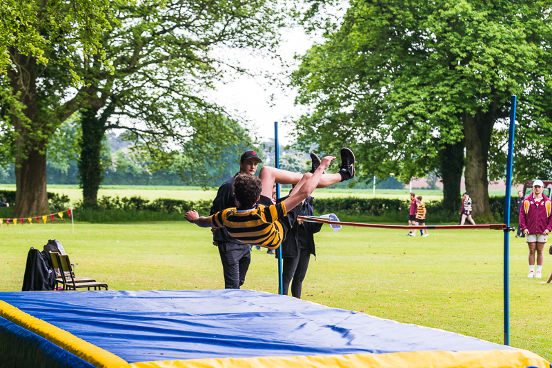 Vaulting at sports day 2018