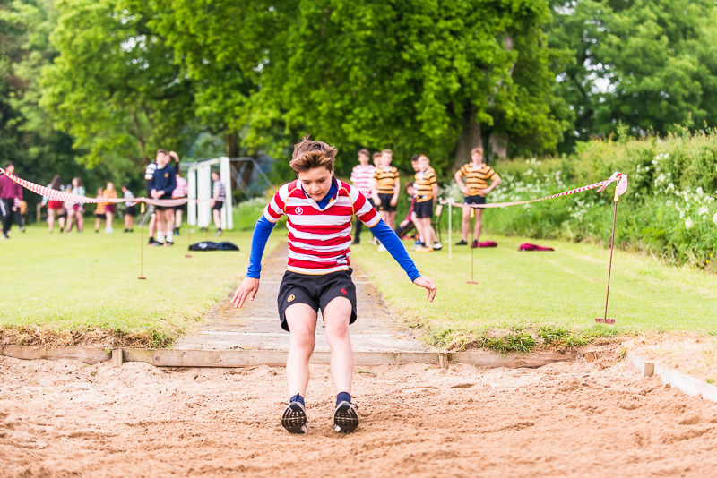 Long jump at sports day 2018