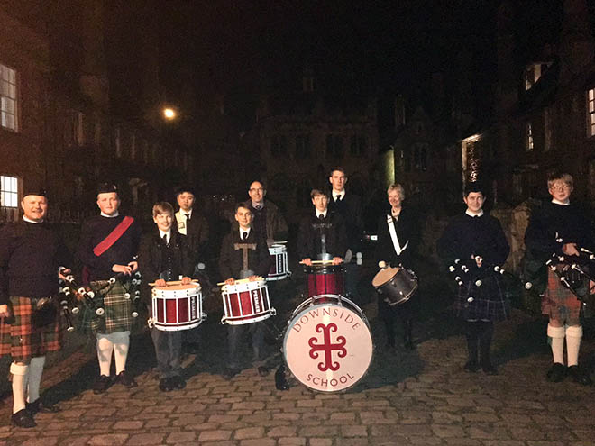 Pupils and staff from Downside School played in Wells