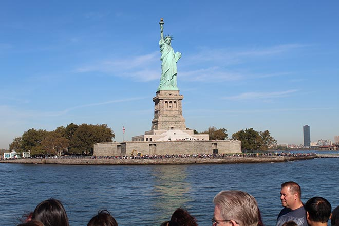Pupils visited the Statue of Liberty