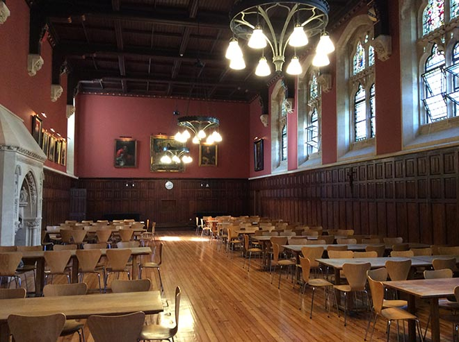 Our beautiful and original refectory at Downside