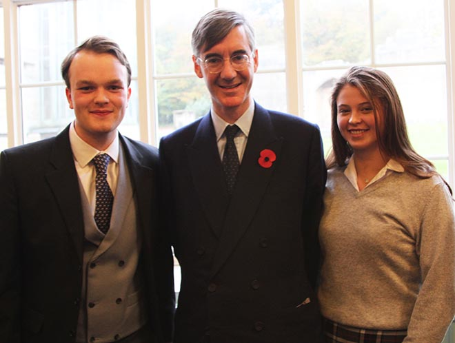 Downside School Debate Brexit - Jacob Rees Mogg and Pupils