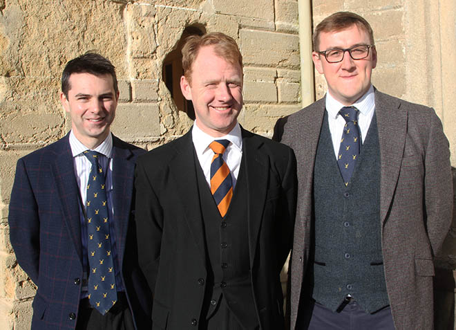 Toby Moschard (Assistant House Master), John Storey (House Master) and Rory Worsman (Resident Tutor) of Smythe House.