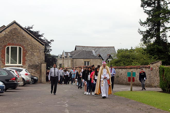 Bishop Declan visits Downside