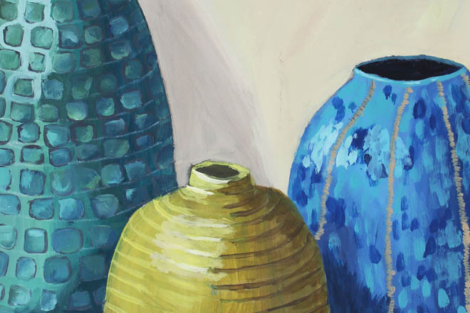 Downside Pupils Art Exhibition - Selection of Vases