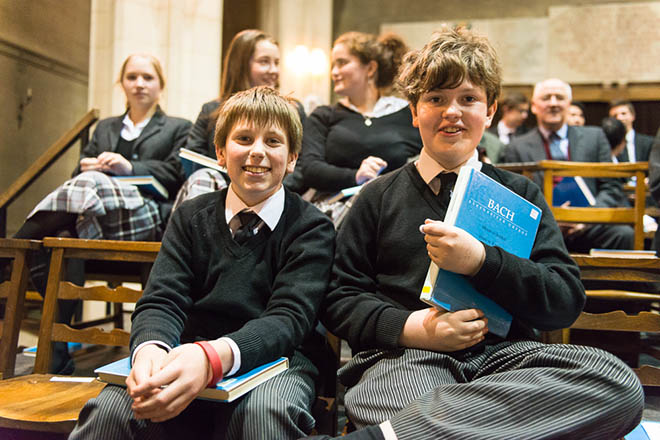 Downside Pupils at Concert of Bach