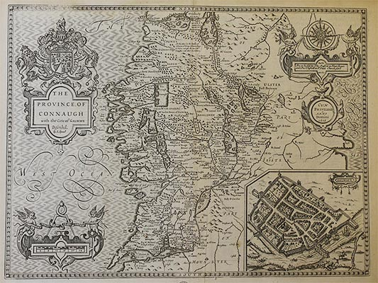 Downside Archive Collections - John Speed Map of Connaugh