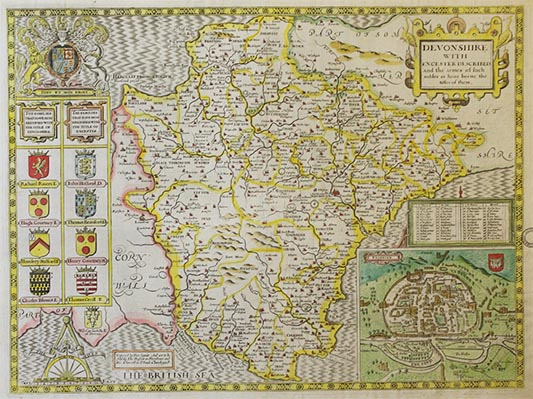 Downside Archive Collections - John Speed Map of Devon