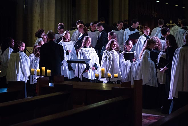 Downside Pupils Perform Tenebrae