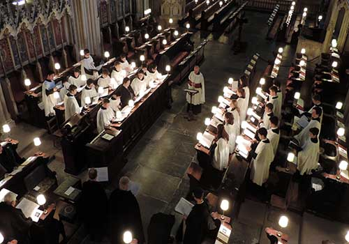 The Monastic Community sing Vespers in Wells Cathedral each year as part of Christian Unity Week.