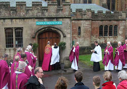 Holy Door Opened at Downside