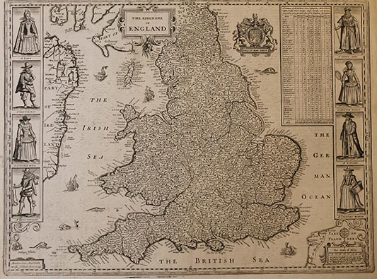 Downside Archive Collections - John Speed Map of England