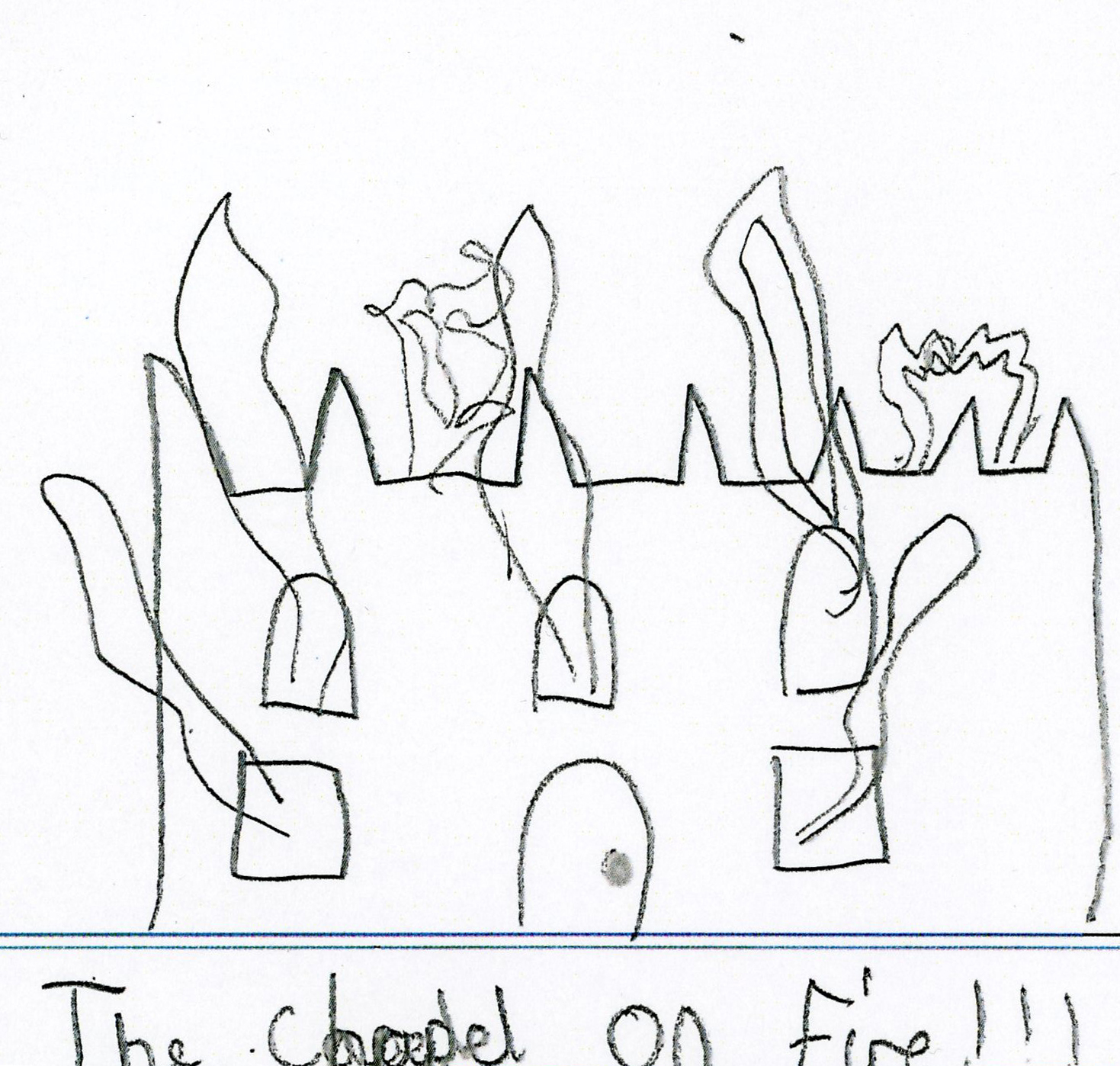 Downside Abbey Pupil Drawing