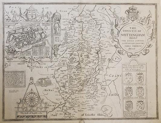Downside Archive Collections - John Speed Map of Nottingham