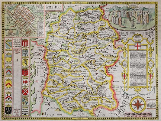 Downside Archive Collections - John Speed Map of Wiltshire